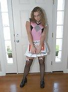 Schoolgirl in the doorway